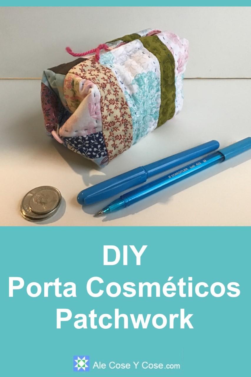 DIY Porta Cosmeticos Patchwork