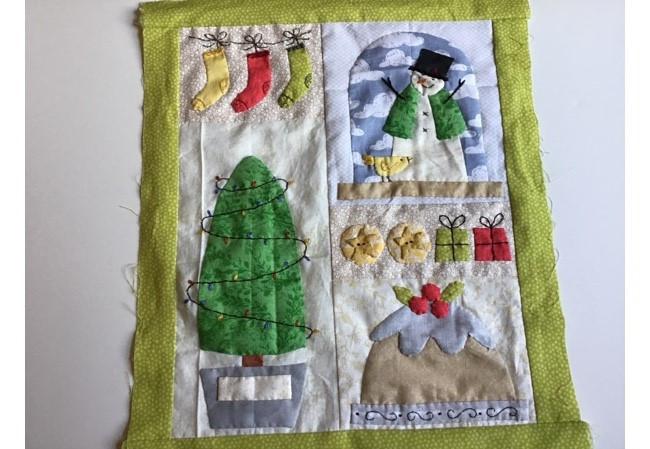 Mini Quilt Navideno - Bloque 3 4 y 5