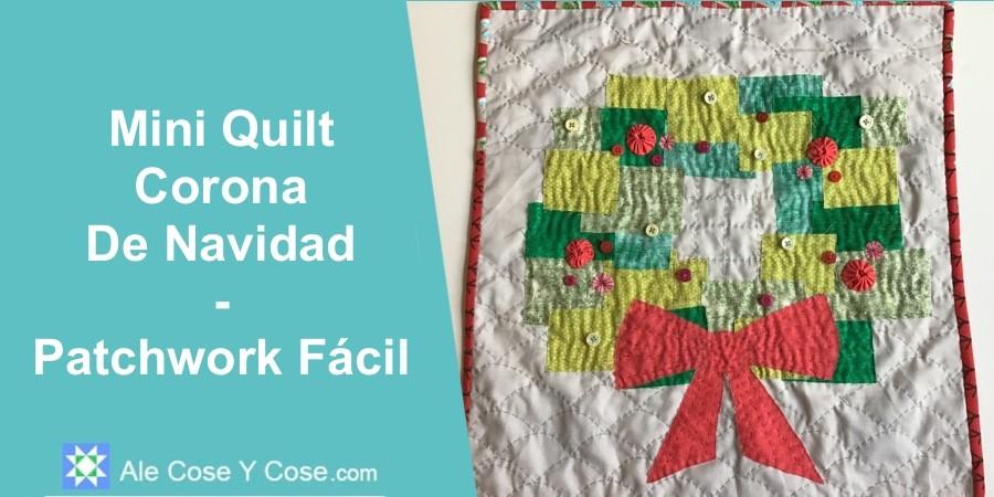 Mini Quilt Corona De Navidad